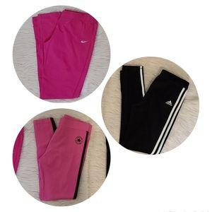 NWOT Girls Nike,Converse, Adidas Legging Bundle XL